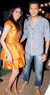 Genelia Spotted wearing 'Payals' and 'Toe-Rings'