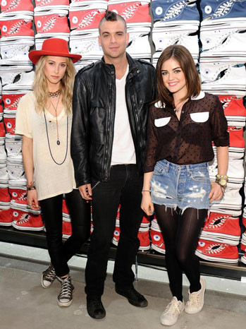 'Glee's' Mark Salling, 'Pretty Little Liars'' Lucy Hale Celebrate West Coast Converse Store Opening