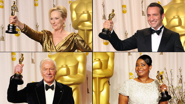 Oscars 2012: The Winners' Reactions
